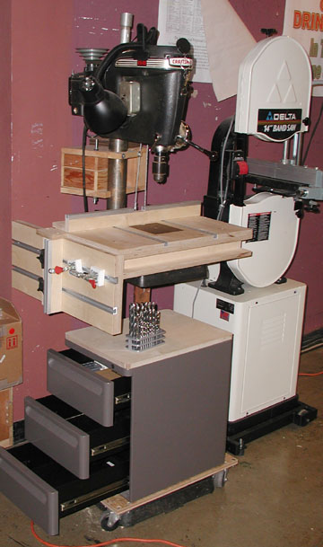 New Drill Press Table System T Tracks In The Top And Side Tables On Fence Hold Downs Stops Etc For Rolling With